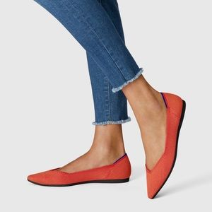 Rothy's Retired Persimmon Orange Pointed Toe Flat